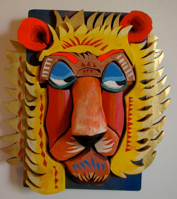 fashionable lion